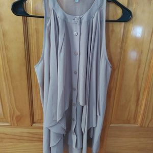 Naked Zebra · Sleeveless nude blouse